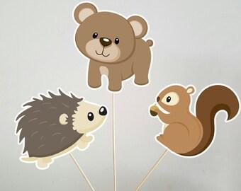 Woodland Centerpieces, Woodland Animal Centerpieces, Woodland Baby Shower, Woodland Birthday Party, Forest Animal Centerpieces