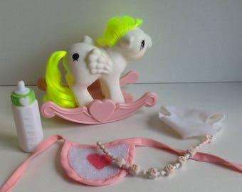 G1 My Little Pony Baby SURPRISE: Baby Pony Pegasus w/ Accessories