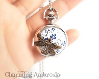 Mini Pocket Watch / Wacth Pendant / Pocket Wacth Pendant Necklace / Small Pocket Watch