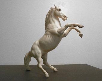 Vintage Breyer Rearing Horse Rex Alabaster Lipizzan Stallion Model 180