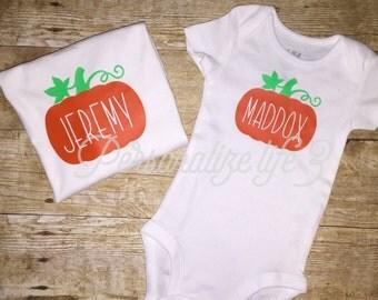 Pumpkin Shirt/Fall Shirt/Pumpkin Patch Shirt/Personalized Pumpkin Shirt