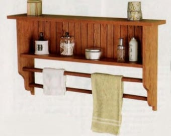 Wall Shelf And Towel Rack Woodworking Plans