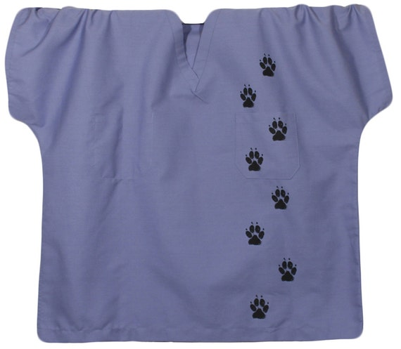 Paw Print Scrub Shirtdog Paw Prints Dog Scrubs Medical