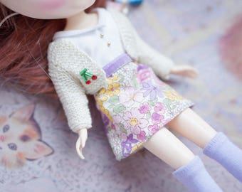 blythe outfit - liberty style purple dress