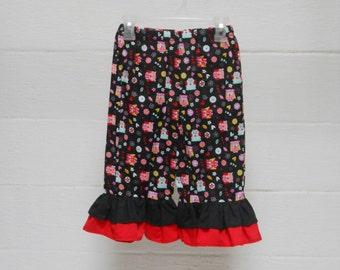 Ruffled Pants with owls for girls