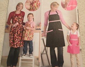 Simplicity adjustable apron pattern