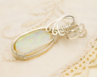Crystal Opal Sterling Silver Pendant 3.90ct (CY11-P)