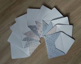 Ensemble de 10 enveloppes Mini avec cartes de correspondance, bon côté des choses