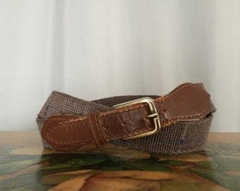 Vintage Belt Brown Leather Strap size Medium