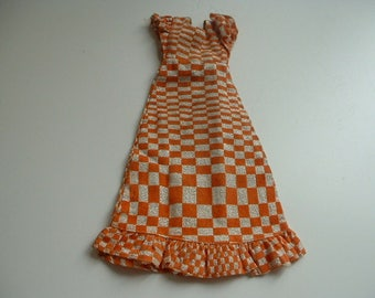 1970s Sindy checkmate dress
