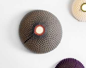 Wall lamp, Statement lighting, knitted wall light fixture, Wall light fixture, Wall lighting, housewarming gift