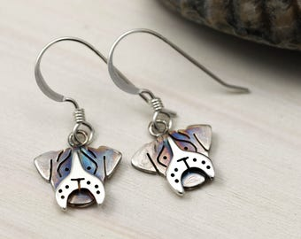 Sterling Silver Boxer Dog Earrings - Boxer Dog Jewellery