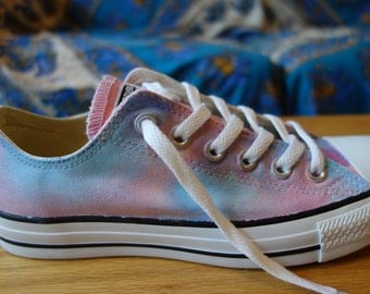 Handpainted Cotton Candy Converse