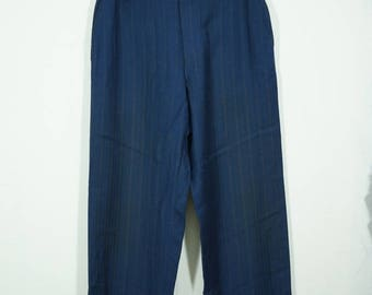 Vintage 40s/50s Pinstriped Works Pants Size 30 / French Work Pants / Salt Pepper Pants /