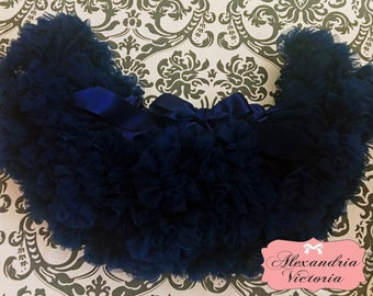 NAVY BLUE PETTISKIRT with Bow,  Navy Blue Tutu, Newborn Pettiskirt, Baby Pettiskirt, Toddler Pettiskirt, Smash Cake, Birthday Outfit.