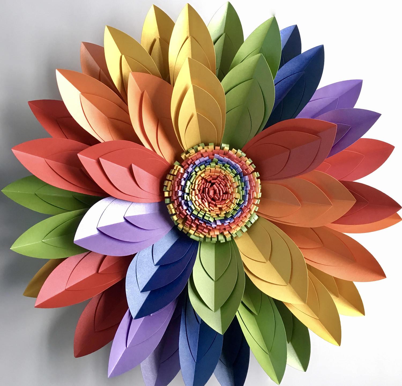 40cm 16 3d rainbow paper flower wall dcor table centrepiece 40cm 16 3d rainbow paper flower wall dcor table centrepiece lgbt rainbow amipublicfo Images