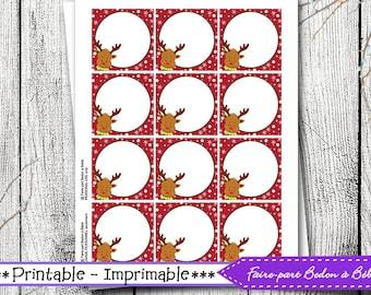 Christmas Printable Tags - christmas gift tags printable, present gift tags, to from christmas tags, homemade christmas gift tags, gift tags