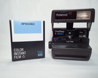 POLAROID ONESTEP CLOSEUP tested and with Impossible film, vintage, analog, instant party camera G3 126