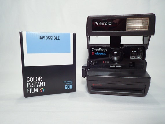 polaroid onestep closeup tested and with impossible film vintage analog instant party camera. Black Bedroom Furniture Sets. Home Design Ideas