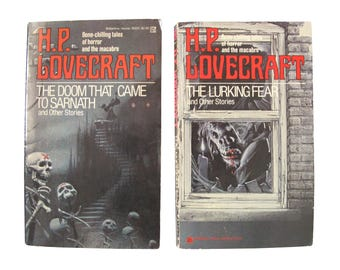 Vintage H.P. Lovecraft Short Stories Books