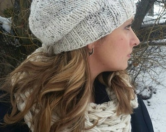 Slouchy hat, Slouch Beanie, Cream Colored Hat, slouch Hat, Slouchy Knit Beanie, Ivory Slouchy, Slouchy hat, Slouchy Beanie, Knit Slouchy hat