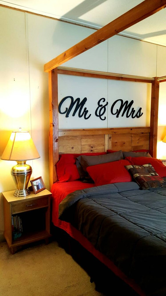 Mr Mrs Wall Hanging Above Bed Decor Master Bedroom Decor