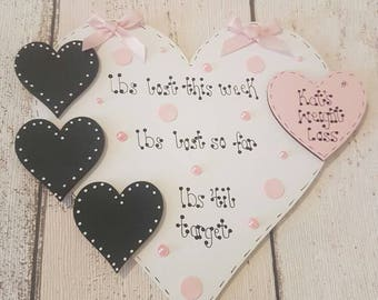 Weight Loss Plaque Magnet Only (hearts)