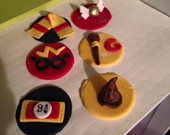 Edible Harry Potter Cupake Toppers