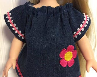 Jeans Dress for 16 inch doll