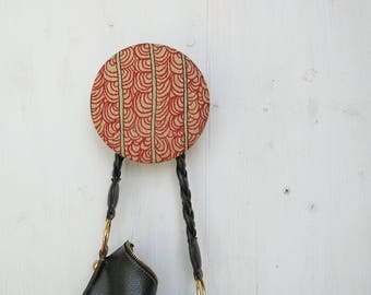 RED LEAVES bag holder / wall hook