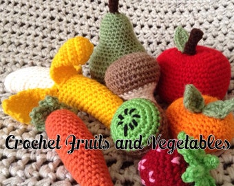 Assorted Crocheted Fruits and Veggies