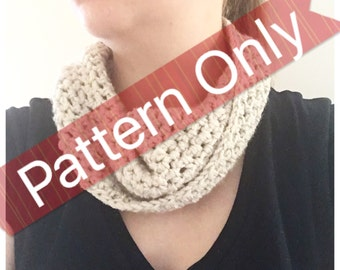 Crochet Cowl Pattern PDF (easy and quick)
