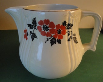 Vintage Hall Superior Kitchenware Water/Milk Pitcher - Radiance Red Poppy