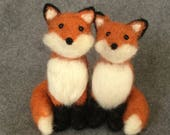 Pair of Foxes - Needle Felted