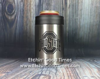 Ohio State Polar Camel Can Bottle Cooler OFFICIALLY LICENSEDStainless Steel Vacuum Insulated Tumbler w/Clear Lid with Personalization