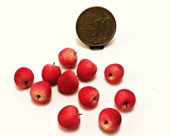 Dollhouse miniature 1:12 apples (10 pieces)