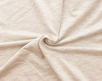 Oatmeal Rayon Spandex Knit by Made Whimsy