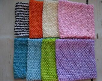 LINED 8 INCH Crochet Tutu Dress Tube Top [LCB8]