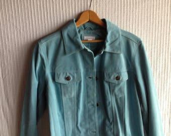 VINTAGE - NEVER WORN - Aqua suede jeans-style jacket