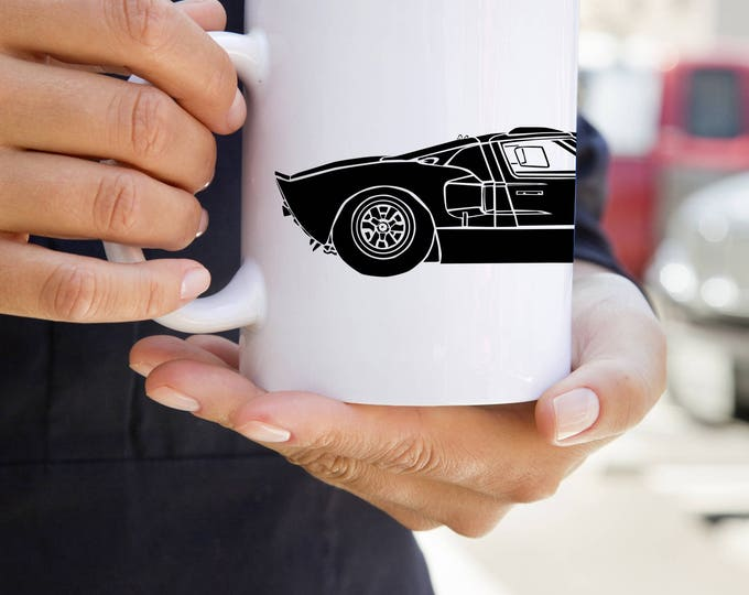 KillerBeeMoto:  U.S. Made Limited Release Ford GT40 LeMans Race Car On Coffee Mug