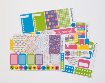 Weekly Planner Sticker Kit - Easter Eggs