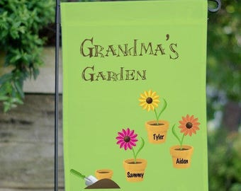 Personalized Garden Flag, Grandmothers Gift, Garden Flag, Grandma