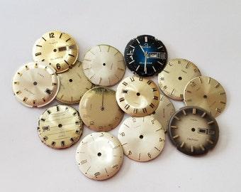 Vintage, Watch, Lot, Wristwatch, Steampunk, Round, Dials, Timex, Parts, Jewelry, Beading, Supply, Supplies