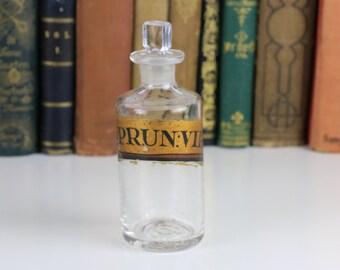 Antique Bottle Chemist bottle gold label