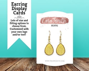 Earring Cards | Custom Earring Display Cards | Jewelry Display Cards| Rectangle Dome Top & Bottom