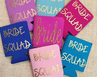 Bridal Party Custom Monogrammed Can Covers
