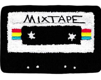 XL Extra Large Vintage Style Chenille Mixtape Cassette Mix Tape DJ Patch Badge (15cm)