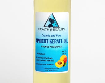 8 oz APRICOT KERNEL OIL Organic Carrier Cold Pressed 100% Pure