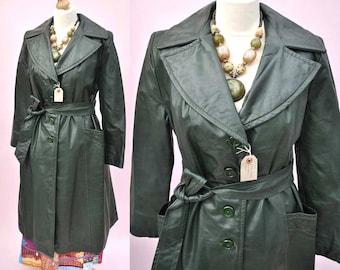 Leather trenchcoat | Etsy