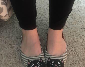 Kitty toe ballet flats